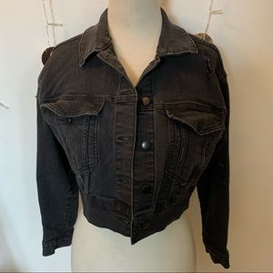 Cropped Black Wild Fable Jean Jacket